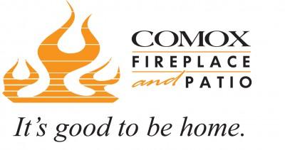 Comox fireplace and patio