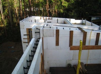 Build an icf constructed energy efficient vancouver for Foam concrete house construction