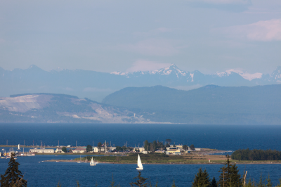 Residential ocean and mountain view lots for sale in the Comox Valley
