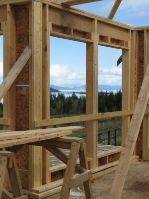 Custom Home Under Construction at The Ridge in Courtenay