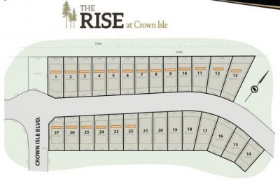 The Rise Crown Isle Building Lots for Sale