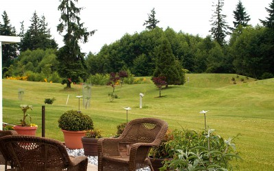 Shades of Green Campbell River patio homes next to golf course