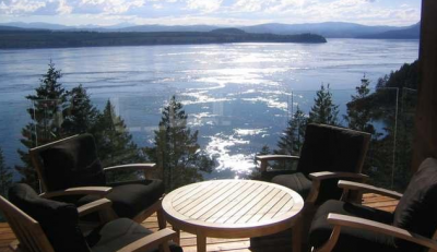 waterfron quadra island home